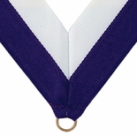 NECK RIBBON PURPLE AND WHITE