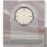 DESK CLOCK IN CLEAR GLASS