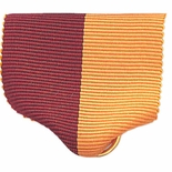 PIN BACK RIBBON, MAROON AND GOLD