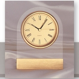 DESK CLOCK, CLEAR ACRYLIC