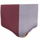 PIN BACK RIBBON, MAROON AND GRAY