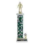 16, 17, 18 INCH ONE COLUMN SPORTS TROPHY WITH TRIM