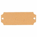 2-1/2 X 7/8 BRASS PLATE WITH 2 HOLES