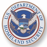 U.S. DEPT.OF HOMELAND SECURITY, 2 INCH ETCHED ENAMELED