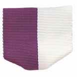 PIN BACK RIBBON, PURPLE AND WHITE