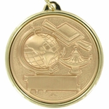 2-1/4 INCH SCHOLASTIC ACHIEVEMENT MEDAL, MULTIPLE COLORS