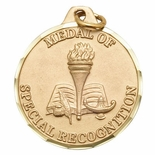 1 1/4 INCH MEDAL OF SPECIAL RECOGNITION, GOLD