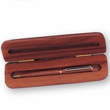 ROSEWOOD BOX AND BALL POINT PEN