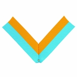 NECK RIBBON, LIGHT BLUE AND GOLD
