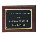 9 X 12 INCH PLAQUE WITH BLACK SCREENED PLATE