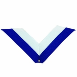 NECK RIBBON, BLUE AND WHITE