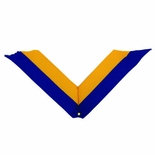 NECK RIBBON, BLUE AND GOLD