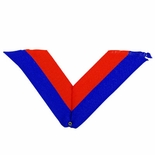 NECK RIBBON, BLUE AND ORANGE