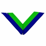 NECK RIBBON, BLUE AND GREEN