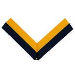 NECK RIBBON, NAVY BLUE AND GOLD