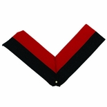 NECK RIBBON, BLACK AND RED