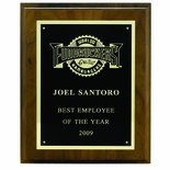 7 X 9 INCH PLAQUE WITH BLACK SCREENED PLATE