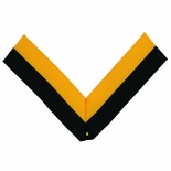 NECK RIBBON, BLACK AND GOLD
