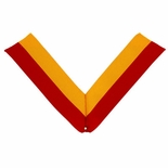 NECK RIBBON, RED AND GOLD
