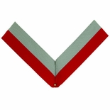 NECK RIBBON, RED AND GRAY