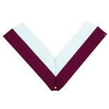 NECK RIBBON, MAROON AND WHITE