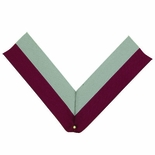 NECK RIBBON, MAROON AND GRAY