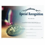 SPECIAL RECOGNITION CERTIFICAT
