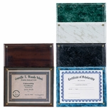 10-1/2X13 PLAQUE HOLDS 8-1/2X11 CERTIFICATE - MULTIPLE COLORS