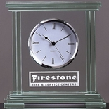 9-1/2 X 9-1/2 JADED GLASS CLOCK