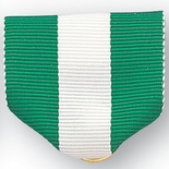 PIN RIBBON, GREEN/WHITE/GREEN