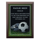 6 X 8 INCH SOCCER PHOTO SPORTS PLAQUE WITH LASER ENGRAVED PLATE