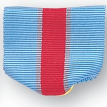 PIN RIBBON, BLUE/RED/BLUE