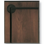 10 X 12 WALNUT GROOVED PLAQUE, 2 INCH INSERT