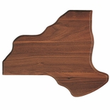 10-3/4 X13-1/4 NEW YORK STATE WALNUT PLAQUE