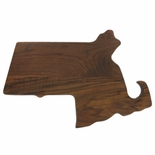 15-1/4 X 10-1/4 MASSACHUSETTS WALNUT PLAQUE