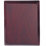8 X 10 ROSEWOOD PIANO FINISH PLAQUE