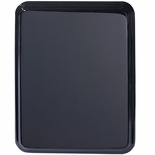 9 X 12 BLACK PIANO FINISH PLAQUE, ROUNDED CORNERS