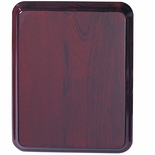 9 X 12 ROSEWOOD PIANO FINISH PLAQUE, ROUNDED CORNERS