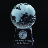 5 INCH OPTICAL CRYSTAL GLOBE ON BASE