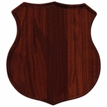 8-1/2 X 9 WALNUT POLICE SHIELD