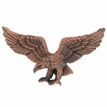 9-1/2 x 4 INCH EAGLE PLAQUE MOUNT,  ANTIQUE COPPER