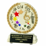 5-1/2 INCH MUSIC GENERAL CAST STONE TROPHY