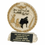 5-1/2 INCH MUSICIAN CAST STONE TROPHY