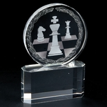 6 INCH CRYSTAL CHESS