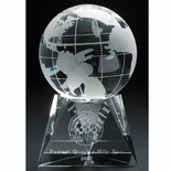 6-1/2 INCH OPTICAL CRYSTAL GLOBE ON BASE