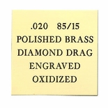 12X24 POLISHED 85/15 BRASS, .020