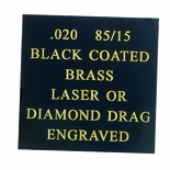 12X24 BLACK COATED 85/15 BRASS, .020