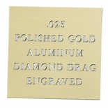 12X24 POLISHED GOLD ALUMINUM, .025