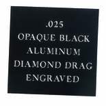 12X24 OPAQUE BLACK ALUMINUM, .025