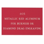 12X24 METALLIC RED ALUMINUM, .025